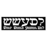 What Would Yeshua Do? Bumper Sticker
