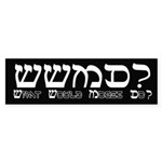 What Would Moses Do? Bumper Sticker