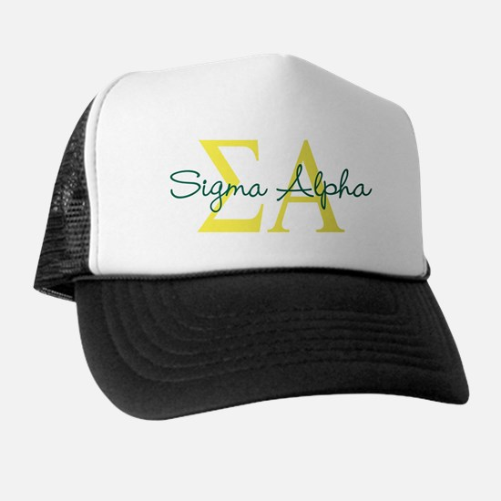Sigma Alpha Logo Letters Trucker Hat