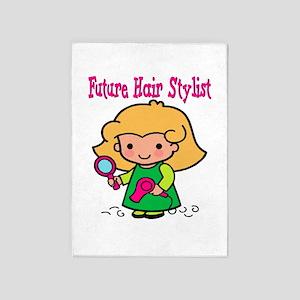 cute future hair stylist 5'x7'Area Rug