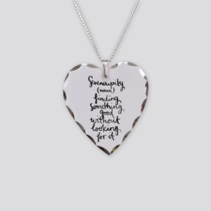 Serendipity Necklace Heart Charm
