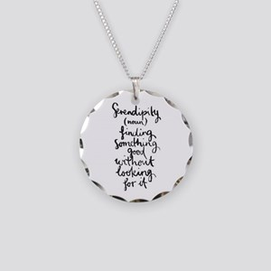 Serendipity Necklace Circle Charm