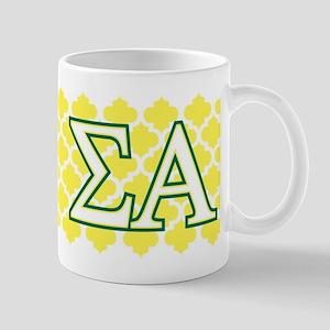 Sigma Alpha Pattern Monogrammed Mug