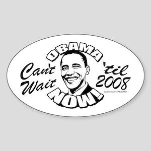 Barack Obama Now Oval Sticker