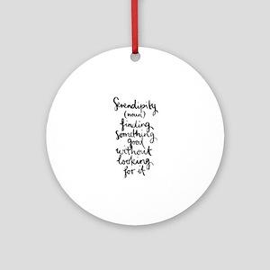 Serendipity Round Ornament