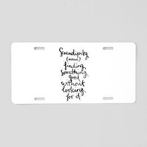 Serendipity Aluminum License Plate