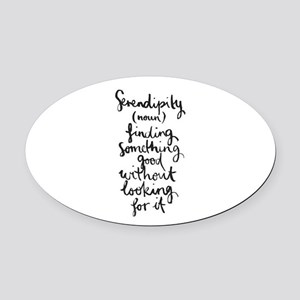 Serendipity Oval Car Magnet