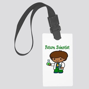 cute future scientist Large Luggage Tag