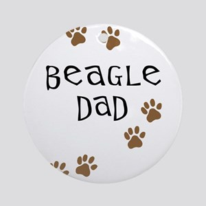 Beagle Dad Ornament (Round)