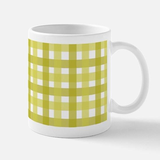 Yellow Picnic Cloth Pattern Mug