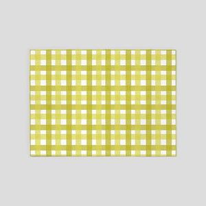 Yellow Picnic Cloth Pattern 5'x7'Area Rug