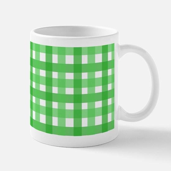 Green Picnic Cloth Pattern Mug