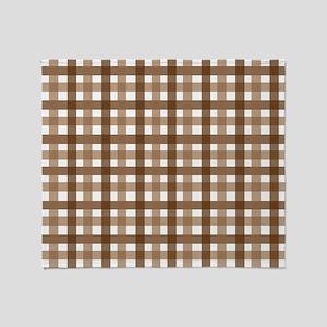 Brown Picnic Cloth Pattern Throw Blanket