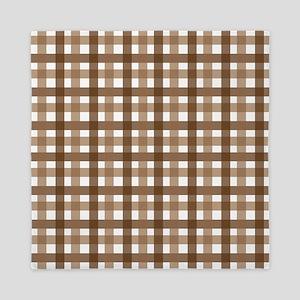 Brown Picnic Cloth Pattern Queen Duvet