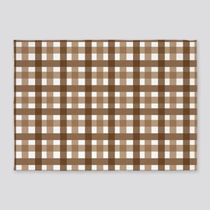 Brown Picnic Cloth Pattern 5'x7'Area Rug