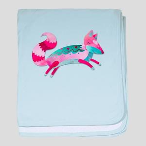 Love Fox baby blanket