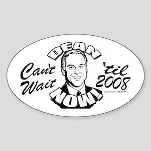 Howard Dean President NOW Oval Sticker