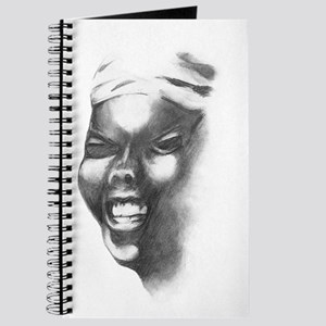 Smiling tribal African Woman Journal