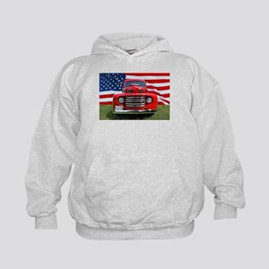 1948 Red Ford Truck USA Flag Sweatshirt