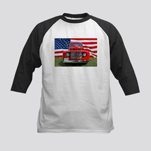 1948 Red Ford Truck USA Flag Baseball Jersey