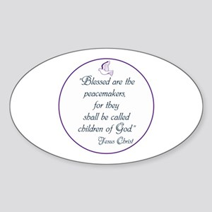 Blessed the peacemakers,Children of God Sticker