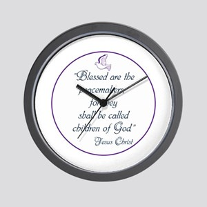 Blessed the peacemakers,Children of God Wall Clock