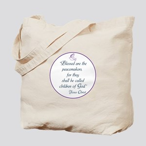 Blessed the peacemakers,Children of God Tote Bag