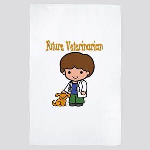 cute future veterinarian 4' x 6' Rug