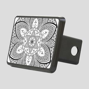 Mandala Flower Design Rectangular Hitch Cover
