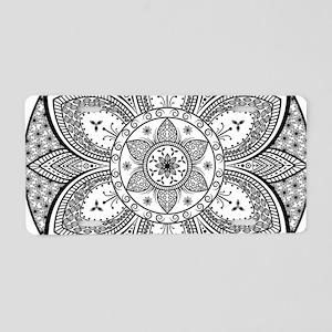 Mandala Flower Design Aluminum License Plate