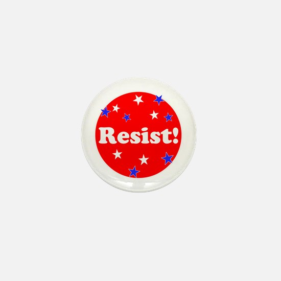 Resist! Stand up to trump Mini Button