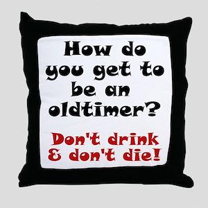AA Oldtimer shirt Throw Pillow