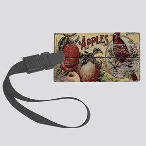 country vintage apple cardinals Large Luggage Tag