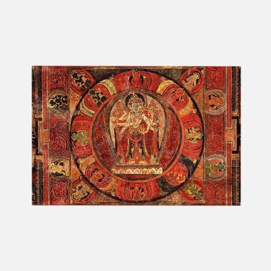 Cool Buddhism mindfulness Rectangle Magnet