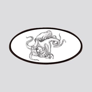 Giant Octopus Fighting Astronaut Tattoo Patch