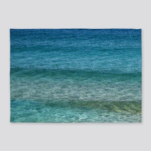 Blue Tropical Water 5'x7'Area Rug