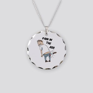Pain in the Ass Necklace Circle Charm