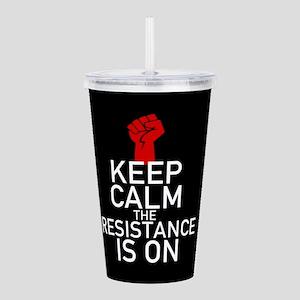 Resistance Keep Calm Acrylic Double-wall Tumbler