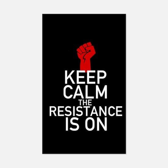 Resistance Keep Calm Sticker (Rectangle)