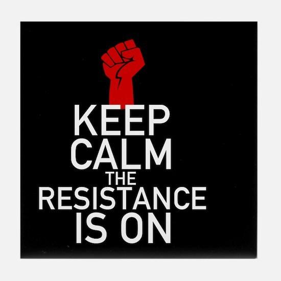 Resistance Keep Calm Tile Coaster