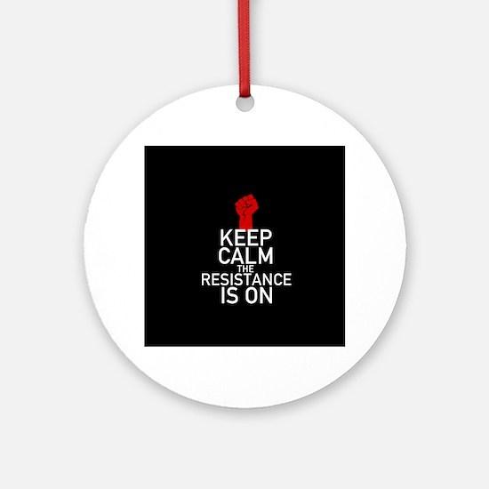 Resistance Keep Calm Round Ornament