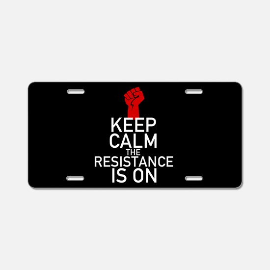 Resistance Keep Calm Aluminum License Plate