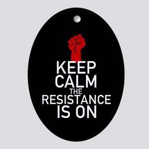 Resistance Keep Calm Oval Ornament