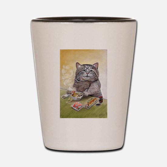 """Sushi Cat""© Christina S Shot Glass"