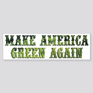 GreenAgainTransparent Bumper Sticker