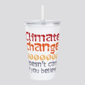 Climate change doesn't Acrylic Double-wall Tumbler