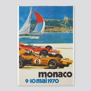 Monaco Grande Prix Vintage Racing 5'x7'are