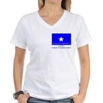 Bonnie Blue, SI, CUC Women's V-Neck T-Shirt