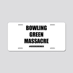 Bowling Green Massacre Aluminum License Plate
