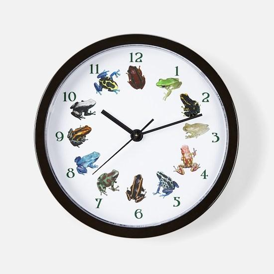 Frog Diversity Wall Clock